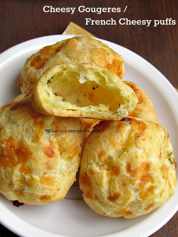 Cheesy Gougeres / French Cheesy puffs